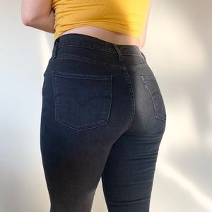 Levi's 721 High Rise Skinny Black Jeans